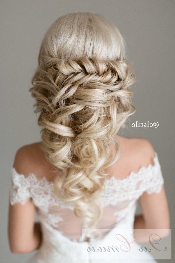 40 Stunning Half Up Half Down Wedding Hairstyles With Tutorial Intended For Wedding Half Up Long Hairstyles (View 13 of 25)