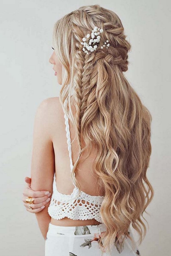40 Stunning Half Up Half Down Wedding Hairstyles With Tutorial With Wedding Half Up Long Hairstyles (View 18 of 25)