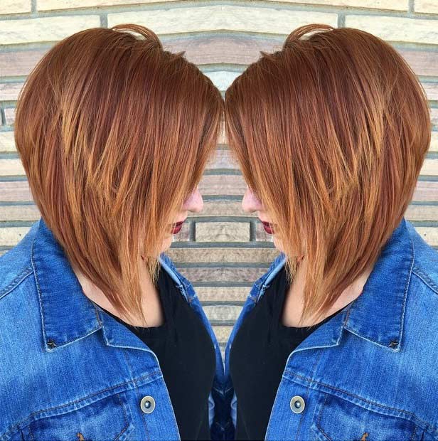 41 Best Inverted Bob Hairstyles   Stayglam Inside Short In Back Long In Front Hairstyles (View 20 of 25)