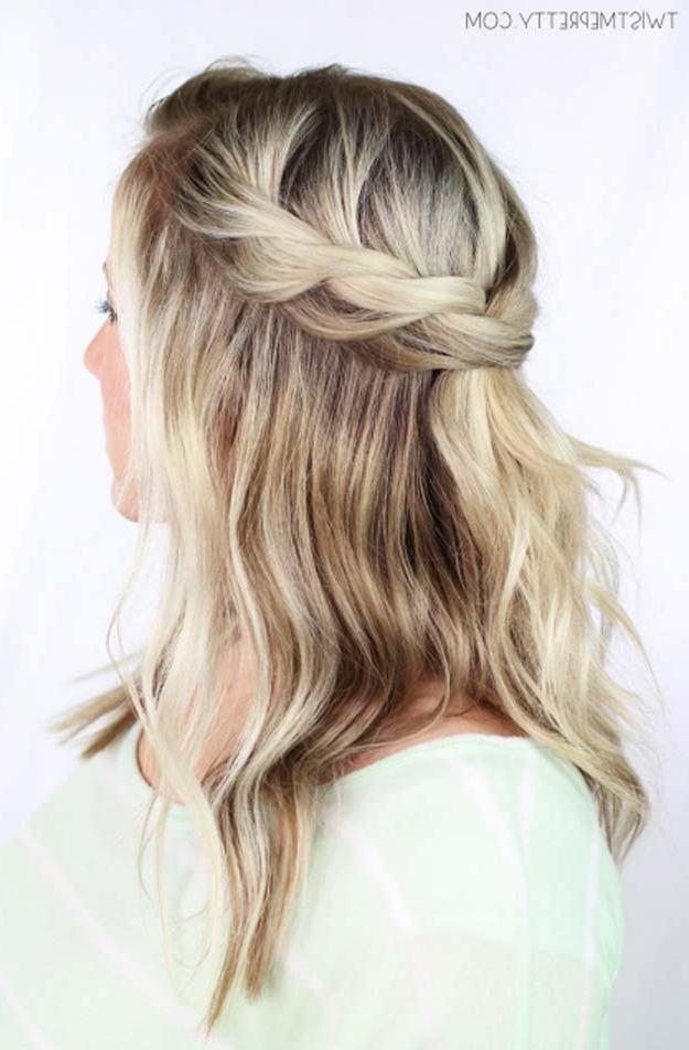 41 Diy Cool Easy Hairstyles That Real People Can Actually Do At Home! With Long Hairstyles Easy And Quick (View 7 of 25)