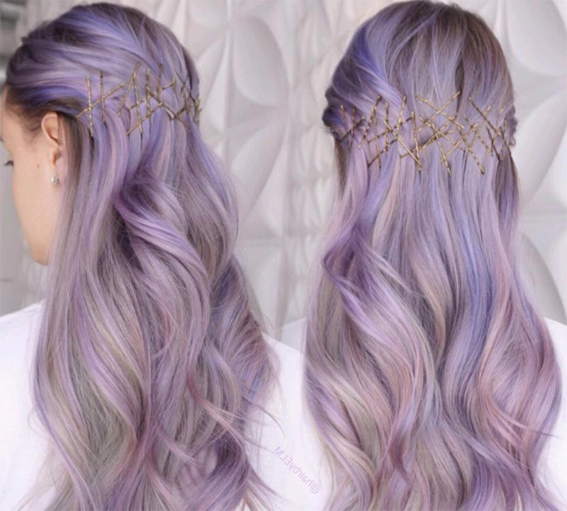 41 Exposed Bobby Pin Hairstyles: How To Use Bobby Pins – Glowsly In Long Hairstyles Pinned Back (View 14 of 25)