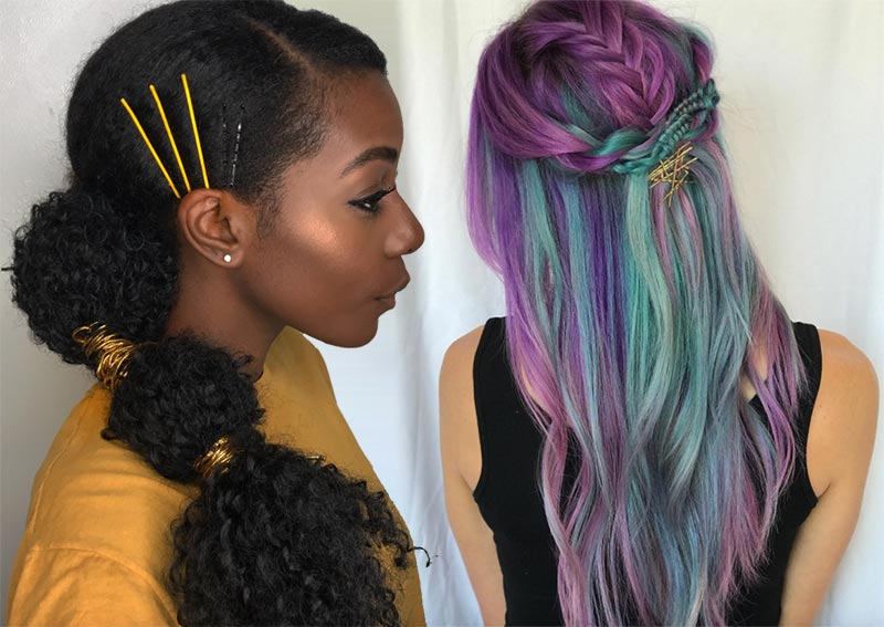 41 Exposed Bobby Pin Hairstyles: How To Use Bobby Pins – Glowsly Throughout Long Hairstyles Using Bobby Pins (View 7 of 25)