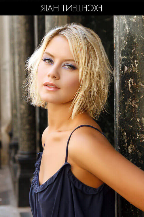 41 Flattering Short Hairstyles For Long Faces In 2019 For Long Hairstyles For Oval Faces And Fine Hair (View 22 of 25)