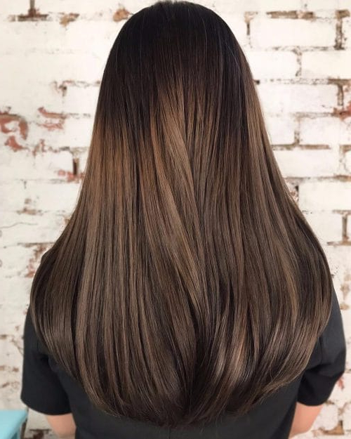 41 Incredible Dark Brown Hair With Highlights (Trending For 2019) In Highlights For Long Hair (View 13 of 25)