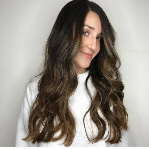 41 Incredible Dark Brown Hair With Highlights (Trending For 2019) Intended For Dark Long Hairstyles (View 24 of 25)