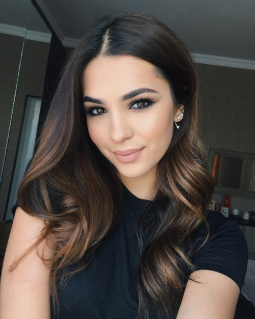 41 Incredible Dark Brown Hair With Highlights (Trending For 2019) With Regard To Long Hairstyles Dark Hair (View 4 of 25)