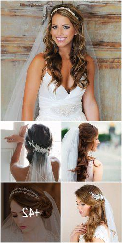 42 Wedding Hairstyles With Veil | Wedding Forward Inside Long Hairstyles Veils Wedding (View 11 of 25)