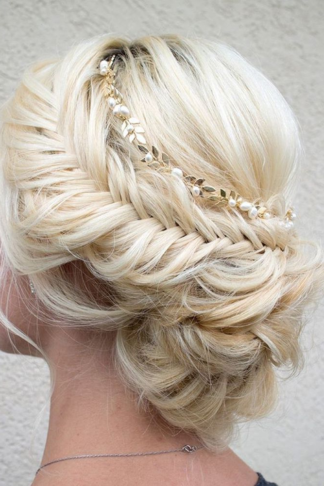 42 Wedding Updos For Long Hair | Hair | Braided Prom Hair, Hair Intended For Asymmetrical Knotted Prom Updos (View 11 of 25)