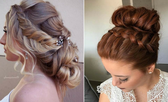43 Stunning Prom Hair Ideas For 2019   Stayglam With Regard To Bun And Three Side Braids Prom Updos (View 22 of 25)