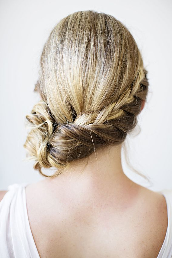 44 Best Hair & Headdresses Images On Pinterest | Bridal Hairstyles In Side Bun Twined Prom Hairstyles With A Braid (View 18 of 25)