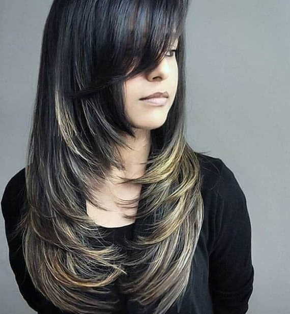 44 Trendy Long Layered Hairstyles 2019 (Best Haircut For Women) Within Long Hairstyles Layers With Bangs (View 18 of 25)