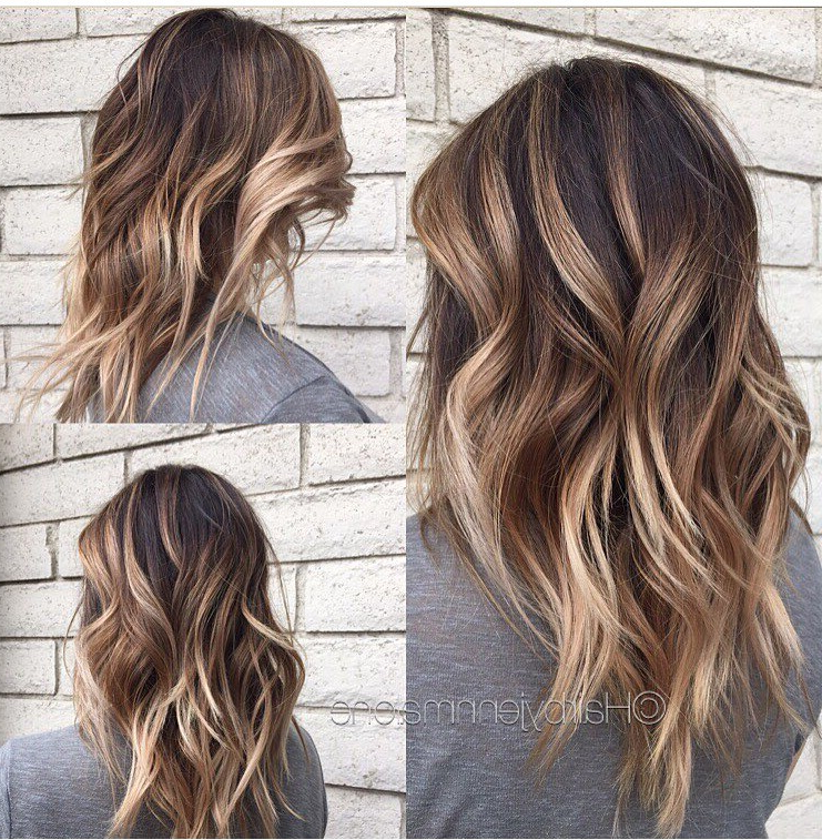 45 Balayage Hair Color Ideas 2019 – Blonde, Brown, Caramel, Red For Balayage Hairstyles For Long Layers (View 15 of 25)