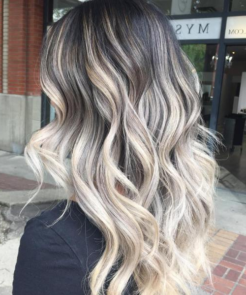 45 Balayage Hair Color Ideas 2019 – Blonde, Brown, Caramel, Red With Regard To Long Thick Black Hairstyles With Light Brown Balayage (View 20 of 25)