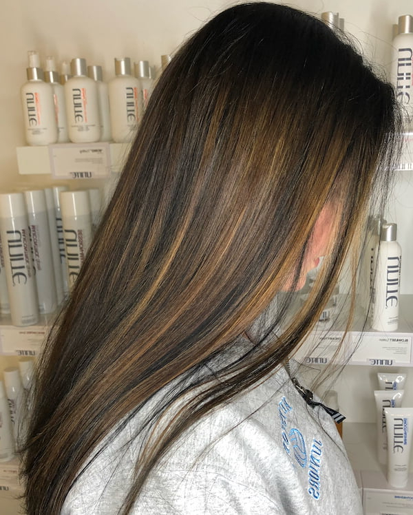45 Best Balayage Hairstyles For Straight Hair For 2019 For Long Thick Black Hairstyles With Light Brown Balayage (View 16 of 25)