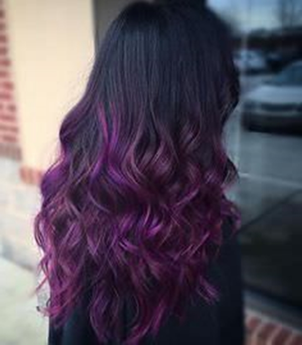 45+ Best Hairstyles Using The Fashionable Shade Of Purple Pertaining To Purple Long Hairstyles (View 8 of 25)