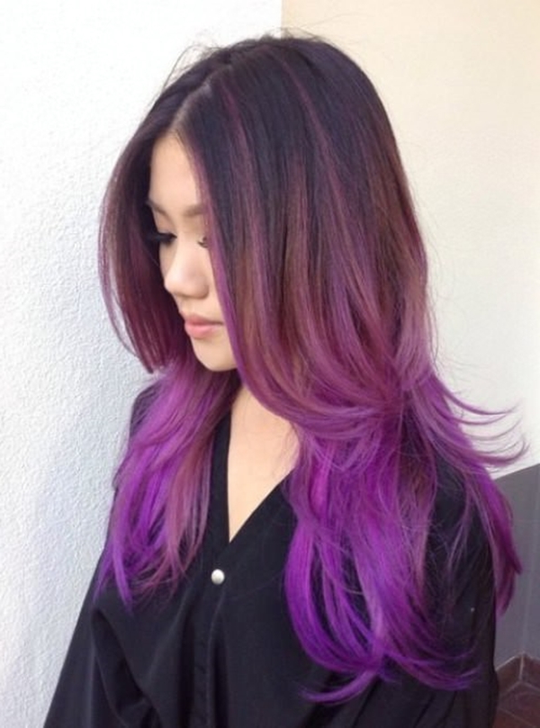 45+ Best Hairstyles Using The Fashionable Shade Of Purple Regarding Purple Long Hairstyles (View 4 of 25)