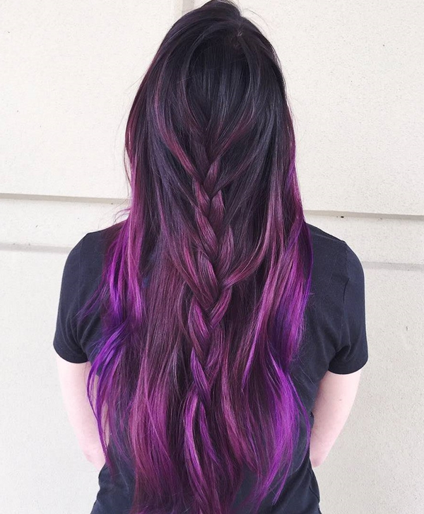 45+ Best Hairstyles Using The Fashionable Shade Of Purple With Regard To Purple Long Hairstyles (View 6 of 25)