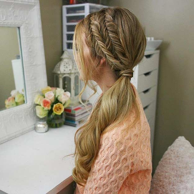 45 Elegant Ponytail Hairstyles For Special Occasions | Stayglam For Elegant Braid Side Ponytail Hairstyles (View 15 of 25)