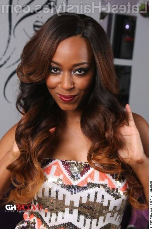 45 Flattering Weave Hairstyles For Black Women In 2019 Throughout Long Hairstyles Weave (View 19 of 25)