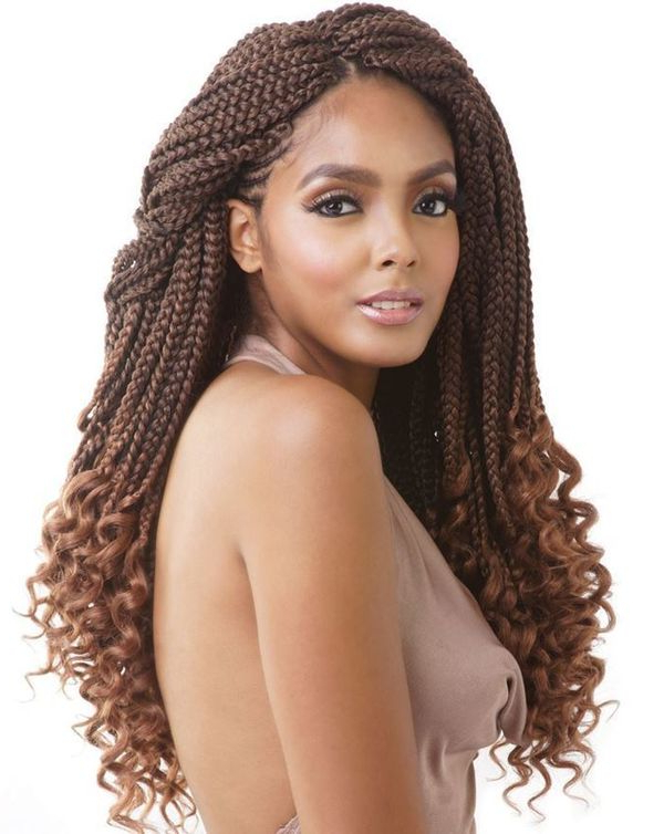 45 Micro Braids Styles To Upgrade Your Hairstyle (Trending In June 2019) Regarding Long Curly Braided Hairstyles (View 21 of 25)