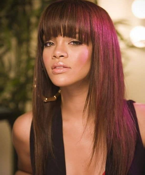 45 Tantalizing Long Hairstyles For Black Girls [2019] Intended For Black Long Hairstyles With Bangs And Layers (View 6 of 25)
