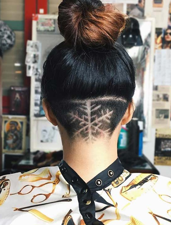 45 Undercut Hairstyles With Hair Tattoos For Women | Fashionisers© In Long Hairstyles Shaved Underneath (View 25 of 25)