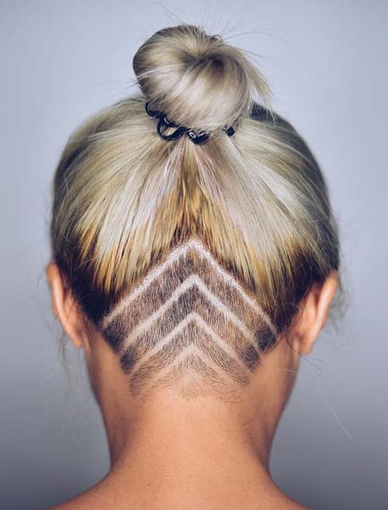 45 Undercut Hairstyles With Hair Tattoos For Women | Fashionisers© Throughout Long Hairstyles Shaved Underneath (View 13 of 25)