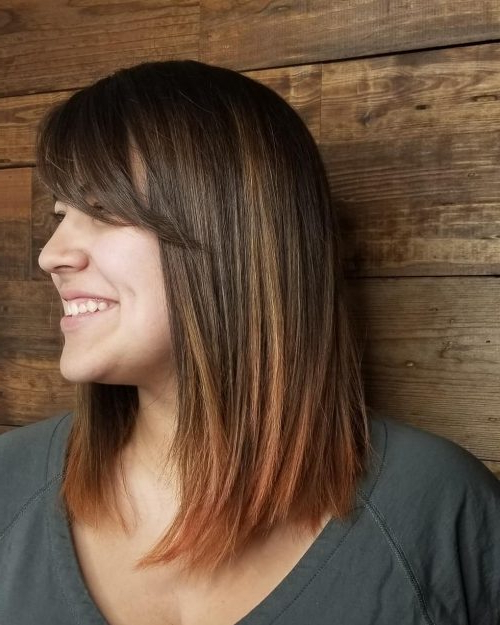 46 Bob With Bangs Hairstyle Ideas Trending For 2019 With Long Bob Hairstyles With Bangs (View 4 of 25)