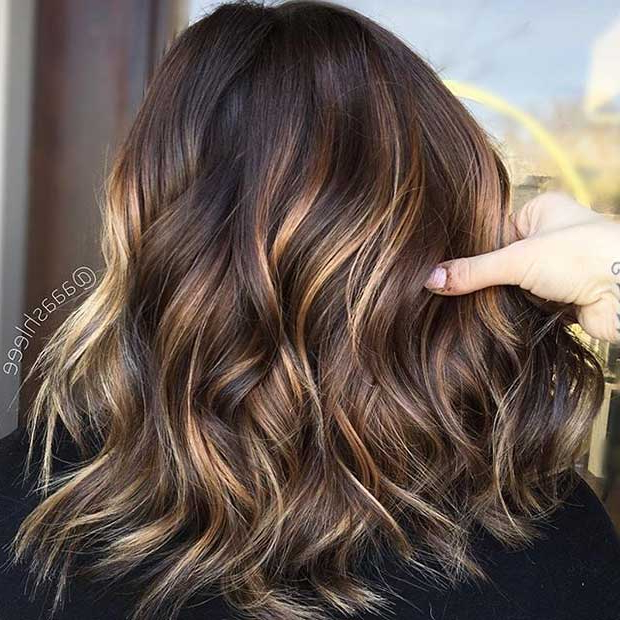 47 Stunning Blonde Highlights For Dark Hair | Page 2 Of 5 | Stayglam Regarding Highlights For Long Hair (View 7 of 25)