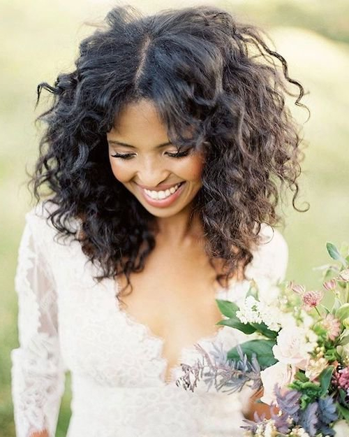 47 Wedding Hairstyles For Black Women To Drool Over 2018 Inside Long Curly Hairstyles For Wedding (View 23 of 25)