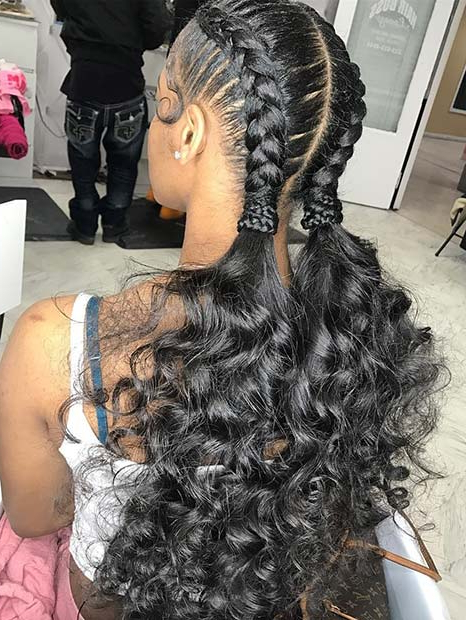 48 Best Black Braided Hairstyles To Copy In 2019 | Stayglam In Long Hairstyles With Braids (View 16 of 25)