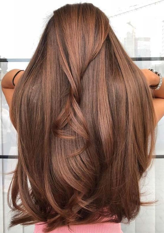48 Fantastic Chocolate Brown Long Hairstyles To Create In 2019 | Throughout Long Hairstyles Brown (View 9 of 25)