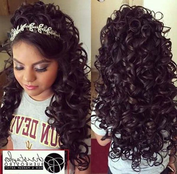 Featured Photo of Long Curly Quinceanera Hairstyles