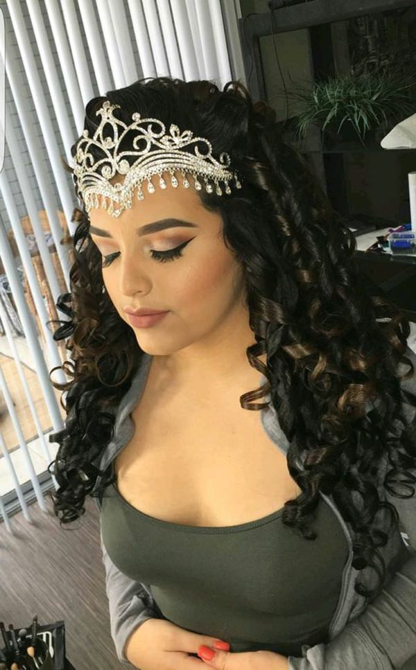 48 Of The Best Quinceanera Hairstyles That Will Make You Feel Like A Regarding Long Curly Quinceanera Hairstyles (View 11 of 25)