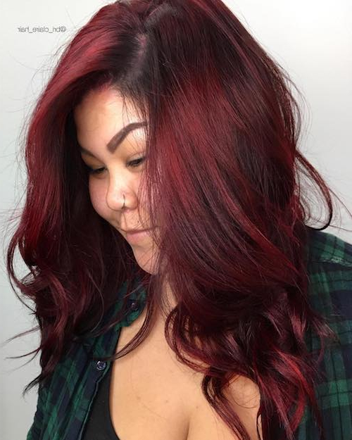 49 Red Hair Color Ideas For Women Kissedfire For 2018 Intended For Long Hairstyles Red Hair (View 25 of 25)