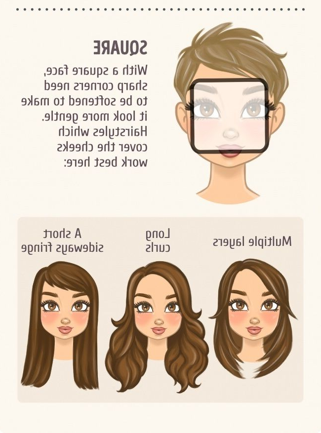 5 A Square Face | Health In 2019 | Face Shape Hairstyles, Haircut For Long Hairstyles Square Face Shape (View 8 of 25)