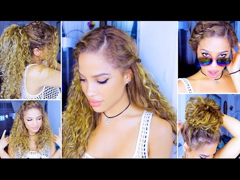 5 Everyday Curly Hairstyles! – Youtube For Beautiful Long Curly Hairstyles (View 24 of 25)