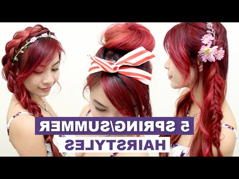 5 Hairstyles For Spring & Summer L Quick Cute And Easy Hair With Regard To Long Easy Hairstyles Summer (View 20 of 25)