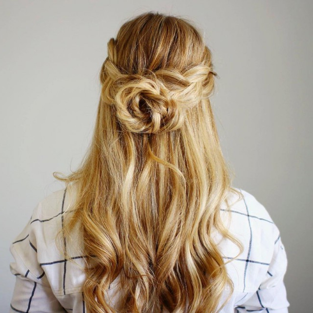 5 Hottest Formal Hairstyles For Females   2019 Haircuts, Hairstyles With Rosette Curls Prom Hairstyles (View 19 of 25)