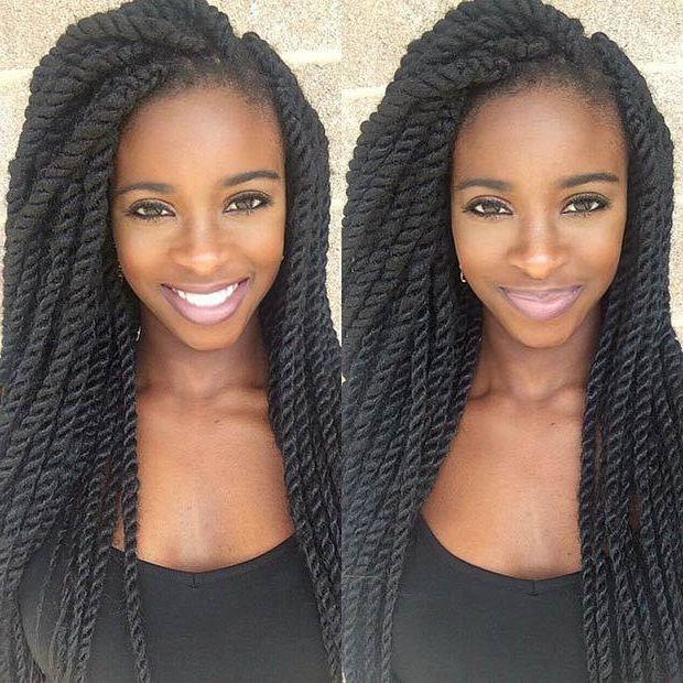 5 Long & Beautiful Kinky Twists To Give A Try – Hairstylecamp In Long Kinky Hairstyles (View 10 of 25)