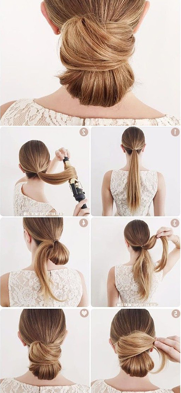 5 Quick And Easy Low Bun Hairstyles For A Busy Morning – Vpfashion Inside Looped Low Bun Hairstyles (View 24 of 25)