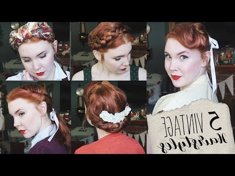 5 Quick & Easy Vintage Hairstyles For Natural/straight Hair! – Youtube Throughout Easy Vintage Hairstyles For Long Hair (View 6 of 25)