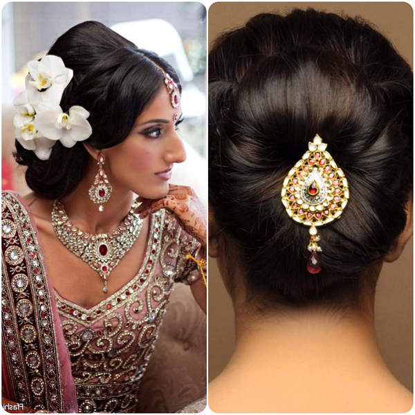 5 Simple But Truly Stunning Hairstyle For Indian Wedding | Marina Inside Indian Wedding Long Hairstyles (View 18 of 25)
