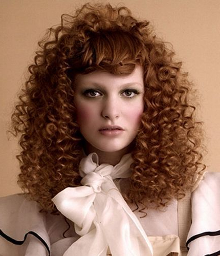 50 Amazing Permed Hairstyles For Women Who Love Curls Within Long Permed Hair With Bangs (View 16 of 25)