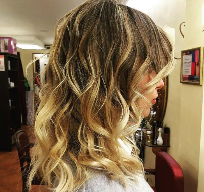 50 Balayage Hair Color Ideas For 2017 To Swoon Over | Fashionisers© Within Curly Golden Brown Balayage Long Hairstyles (View 24 of 25)