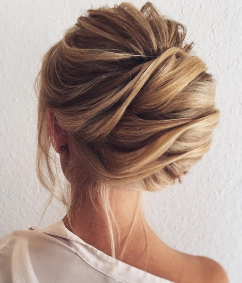 50 Beautiful Easy Updos For Trendy Long Haired Ladies Pertaining To Twisted Side Roll Prom Updos (View 22 of 25)