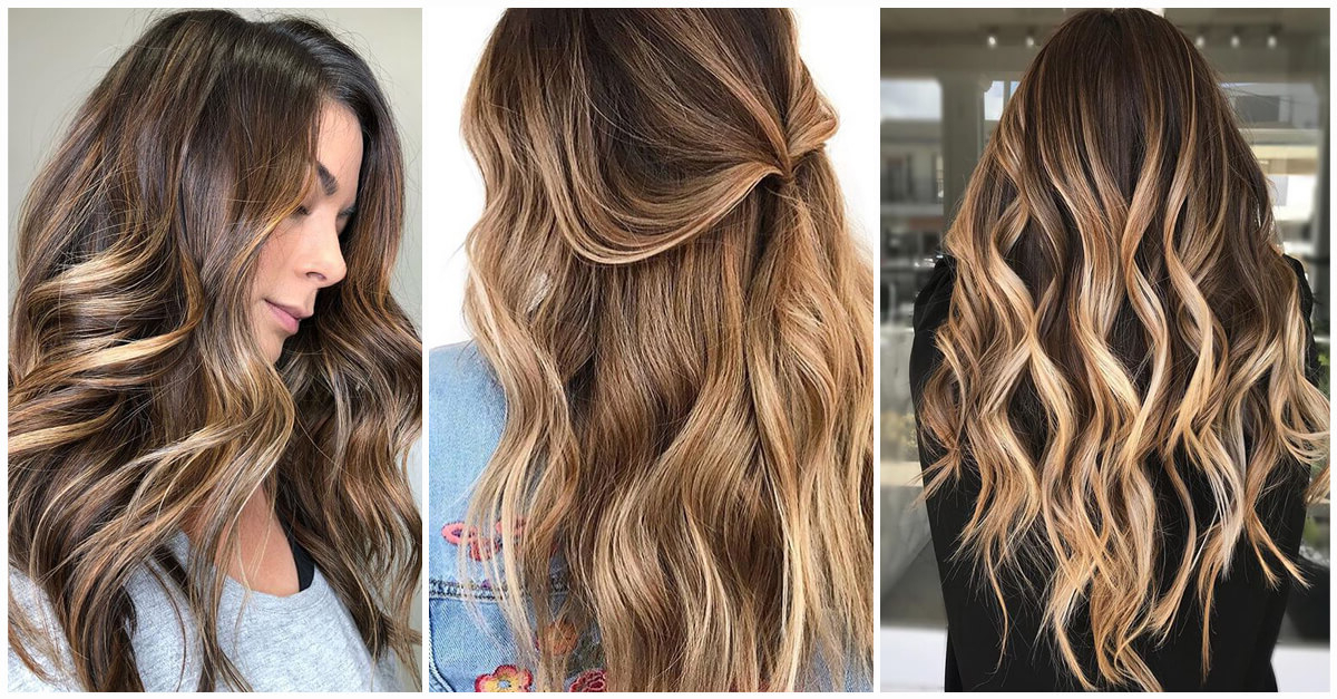 50 Best And Flattering Brown Hair With Blonde Highlights For 2019 For Long Dark Hairstyles With Blonde Contour Balayage (View 8 of 25)