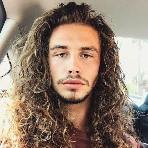 50 Best Curly Hairstyles + Haircuts For Men (2019 Guide) Within Long Hairstyles Curly (View 20 of 25)
