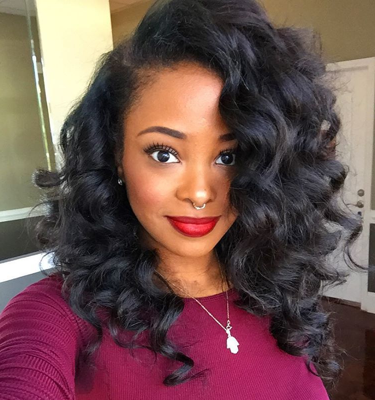 50 Best Eye Catching Long Hairstyles For Black Women | Hair | Long Within Curly Long Hairstyles For Black Women (View 2 of 25)