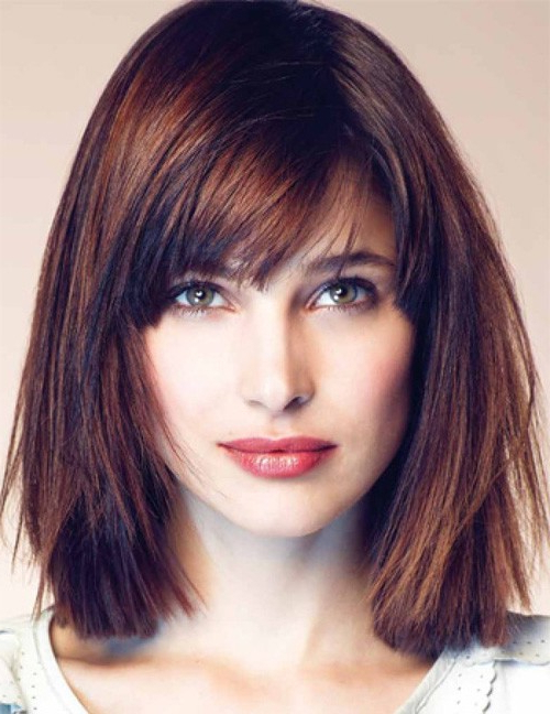 50 Best Hairstyles For Square Faces Rounding The Angles Within Long Hairstyles For Square Faces With Bangs (View 15 of 25)